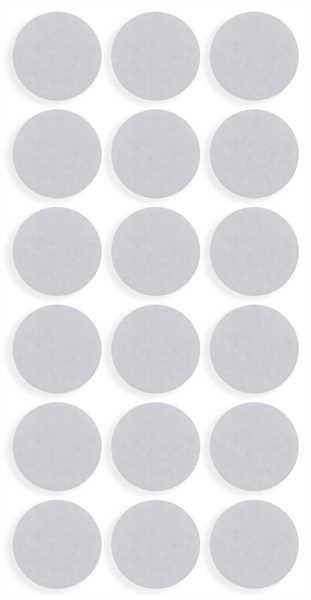 ToniTec® Filzgleiter rund weiß