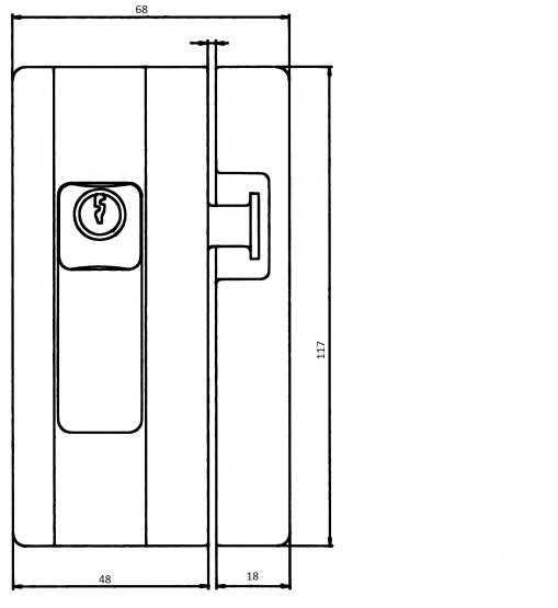 Burg Wächter BlockSafe B1 Fenstersicherung weiß braun verschiedenschliessend & gleichschliessend