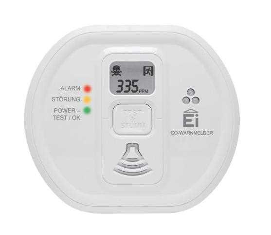 Ei Electronics 208D Kohlenmonoxidwarnmelder | 10-Jahres-Batterie | LCD-Display | inkl. Montagematerial