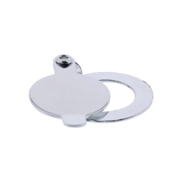 ToniTec® Türspion Abdeckkappe Schließkappe Ø14 mm verchromt