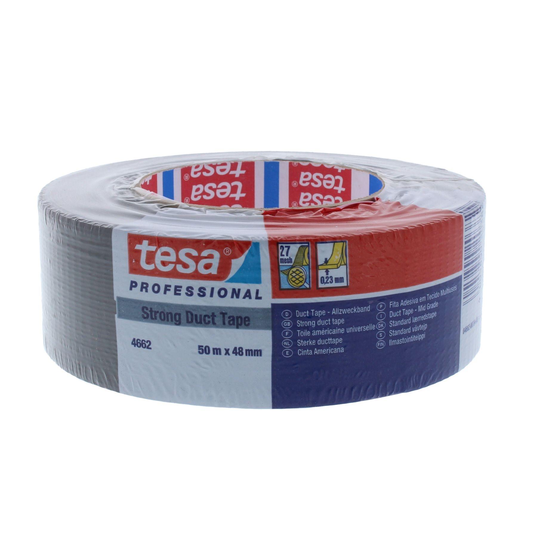 Tesa duct tape allzweckband 4662 48mm x 50m schwarz - Tesa fensterfolie ...