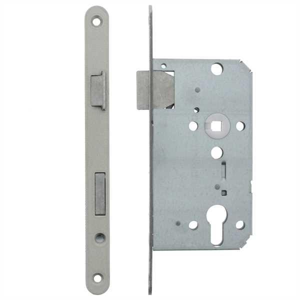 ToniTec® Zimmertür Einsteckschloss Dornmaß 55 mm BB PZ WC/Bad