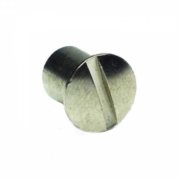 ToniTec® Hülsenmutter M4x10 M5x10 M6x10 M4x14 M5x15 M6x15 mit oder ohne Schlitz messing vernickelt