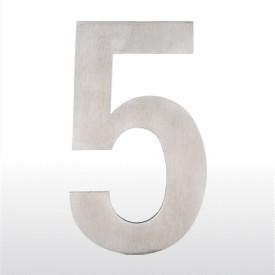 """ToniTec® Hausnummer """"0"""" bis """"9"""" Edelstahl fein matt 155mm Höhe"""
