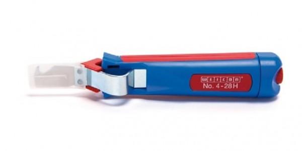 WEICON Kabelmesser 4-28H blau/rot, Blister