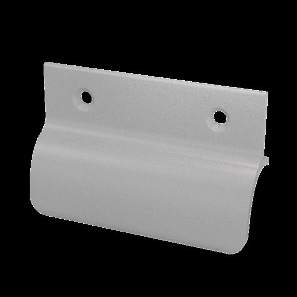 ToniTec® Glasfalzgriff Balkontürgriff Ziehgriff mit Steg Modell: Zofia F1, F2, F3, F4, F9, weiß RAL9
