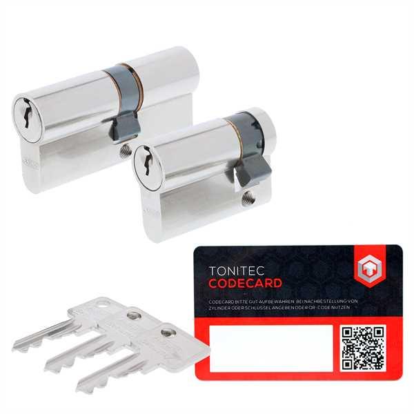 ABUS Profilzylinder C73 C83 K82 gleichschliessend inkl. 3 Schlüssel