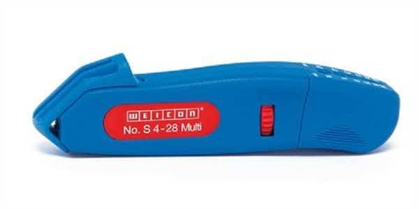 WEICON Kabelmesser S 4-28 - Multi - blau/rot, Blister