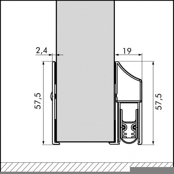 Schutzplatte für Elegance Cassette EllenMatic Soundproof 103 cm 1809502